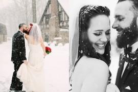 17 perechi care  au demonstrat că nunțile iarna sunt magice!